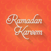 "Ramadan Kareem - Islamic Holy Nights Theme Vector Design - ""Eid Mubarak"" Arabic ""be Blessed"" at English — Cтоковый вектор"
