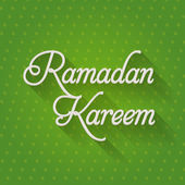 "Ramadan Kareem - Islamic Holy Nights Theme Vector Design - ""Eid Mubarak"" Arabic ""be Blessed"" at English — Stockvector"
