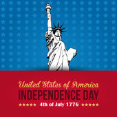 United States of America 4th of July Happy Independence Day — Vettoriale Stock