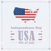 United States of America 4th of July Happy Independence Day — Vector de stock