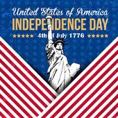 Stati uniti d'america 4 luglio felice giorno dell'indipendenza — Vettoriale Stock