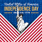 United States of America 4th of July Happy Independence Day — Stock Vector