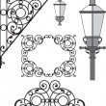 architecture, architecture de lanterne, détail — Vecteur