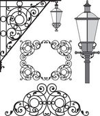Lantern, architectural, architecture, detail — Stock Vector