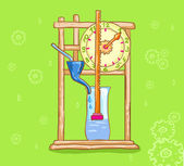 Water clock. Clepsydra. Mechanism. — Stock Photo