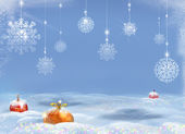 Сhristmas background.balls.snowflakes — Stock Photo