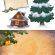 Stock Photo: Christmas Art Graphics.Frame.Background.