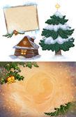 Christmas Art Graphics.Frame.Background. — Stock Photo