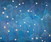 Constellation. Starry sky. The night sky. Stars and Clouds — Stock Photo