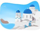 Santorini Greece — Stock Vector