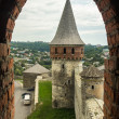 West Ukraine, Kamyanets-Podolskiy, Tower of the castle — Stock Photo