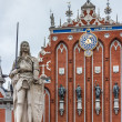 Riga, Latvia, Roland monument — Stock Photo