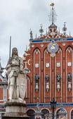 Riga, Latvia, Roland monument — Stock Photo