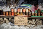 Rusia, suzdal, casa pepinillos en feria — Foto de Stock