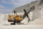 Russia, Divnogorie, Excavator at lime-pit — Stock Photo