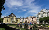 Ukraine, Chernovtsi, Theater square — Stock Photo