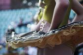 Bailarina em pé closeup — Foto Stock