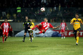 Football match between ARIS F.C. and OLYMPIAKOS F.C. — Stock Photo