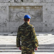 Greek soldier of presidential ceremonial guard — Stock Photo #22401397