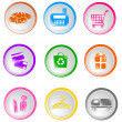 Shopping icons — Stock Vector #12096961