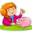 Stock Vector: Piggy bank