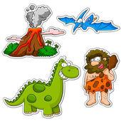 Prehistoric cartoons — Stock Vector