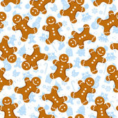 Gingerbread pattern — Stock Vector