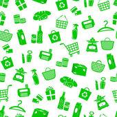 Shopping pattern — Stock Vector