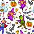 Halloween pattern — Vector de stock