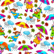 Umbrellas pattern — Stock Vector