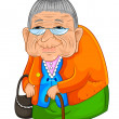 Old lady — Stock Vector #13538315