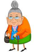 Yaşlı kadın — Stok Vektör