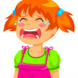 Stock Vector: Crying kid