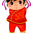 Chinese girl — Stock Vector
