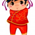 Chinese girl — Stock Vector