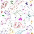 Rock doodles - Image vectorielle