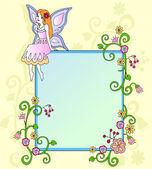 Çiçek peri — Stok Vektör