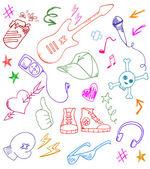 Rock doodles — Stock Vector
