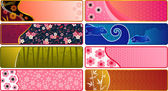 Japanese banners — Stock Vector