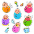 Babies collection — Stock Vector