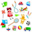 Toys collection — Image vectorielle
