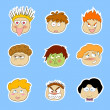 Royalty-Free Stock Imagem Vetorial: Cartoon faces