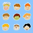 Royalty-Free Stock Vektorgrafik: Cartoon faces