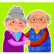 Old couple — Stock Vector #15882245