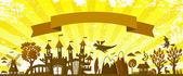 Fairytale banner — Stock Vector