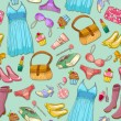 Girlish pattern - Imagen vectorial