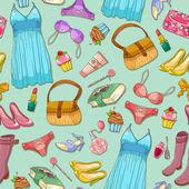 Girlish pattern — Stock Vector