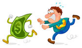 Money chase — Stock Vector