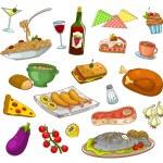 Restaurant food — Stock Vector #19905991