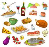 Restaurant food — Stock Vector